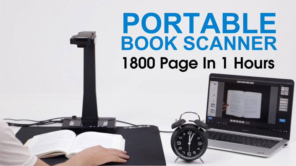 Portable Book Scanner 1800 Pages In One Hours